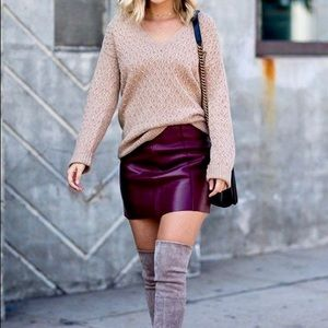 NWT loft burgundy mini skirt // size M